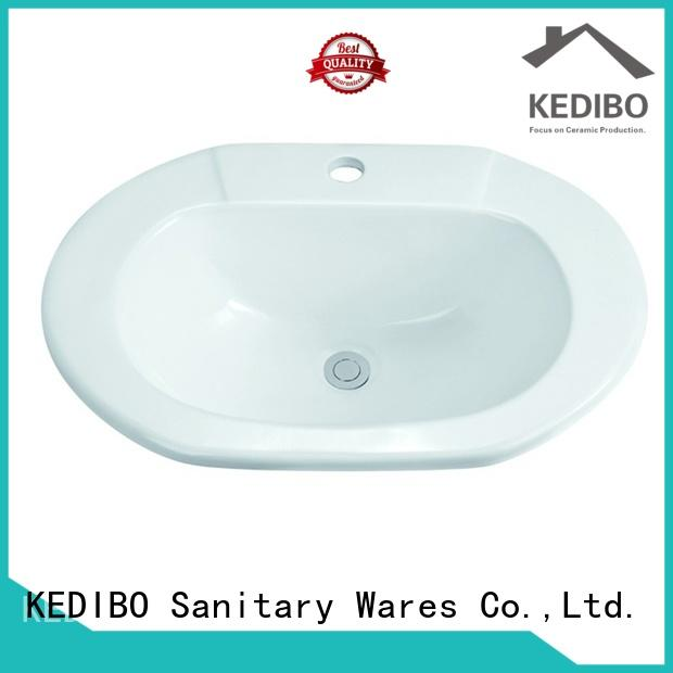KEDIBO hot-sale oval undermount bathroom sink for wholesale for shopping mall