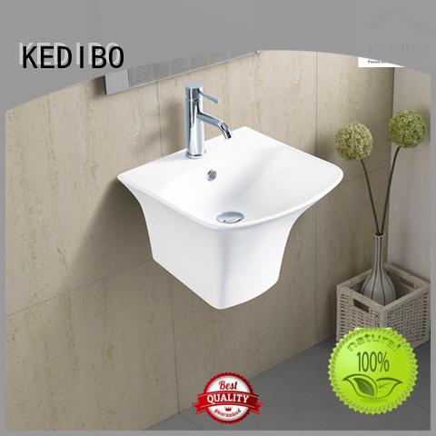 resistant glossy different OEM wall hung basin KEDIBO