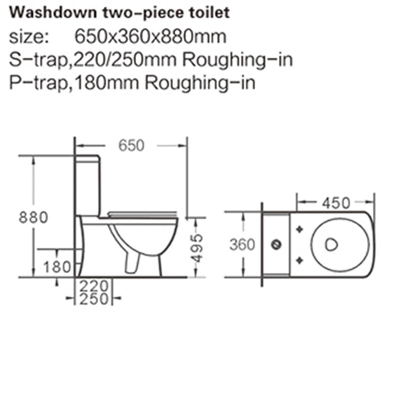 economical price two piece toilet porcelain grab now for bank-2