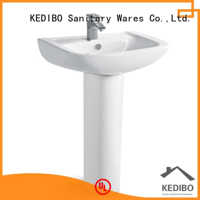 KEDIBO porcelain pedestal basin at discount for hotel