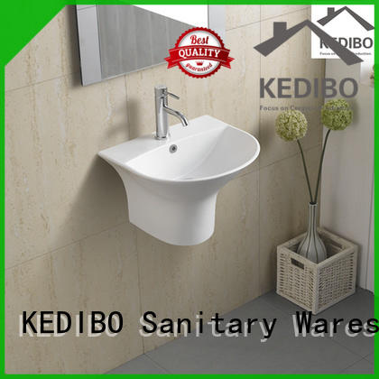 KEDIBO edge wall mounted basin supplier for commercial hotel