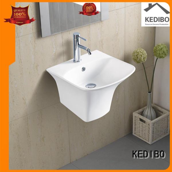 glossy simple OEM wall hung basin KEDIBO