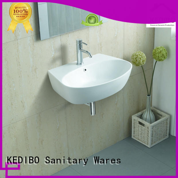 oval white simple wall hung wash basin KEDIBO Brand
