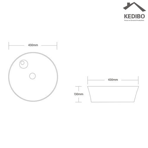 ceramic art basin for hotel KEDIBO-1