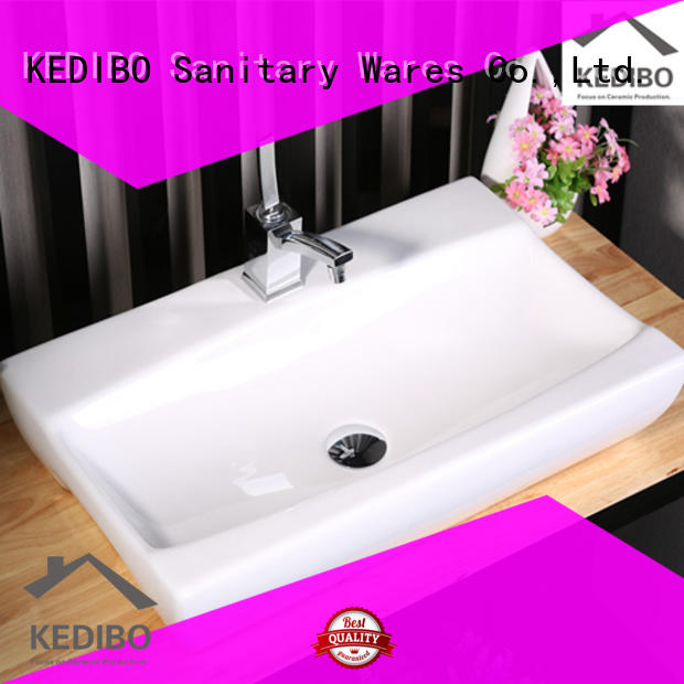 KEDIBO modern tiles wash basin exporter for shopping mall