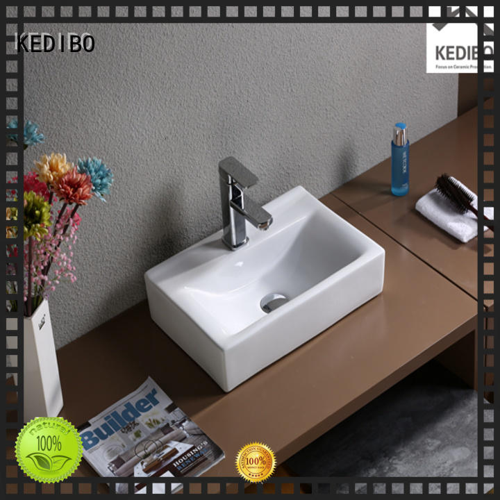 good look small rectangular bathroom sink china factory for office building KEDIBO