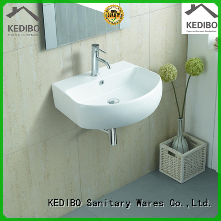 widely used wall hung basin installation factory price for commercial hotel