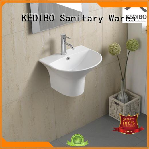 ceramic wall hung basin simple square KEDIBO company