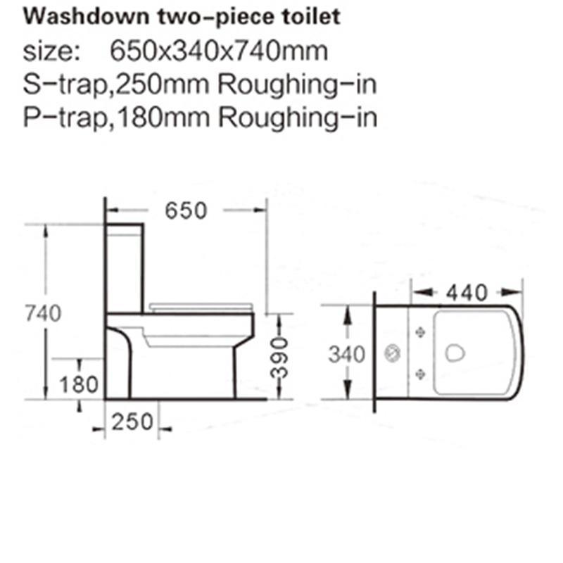 modern two piece toilet application for coffee bar KEDIBO-2