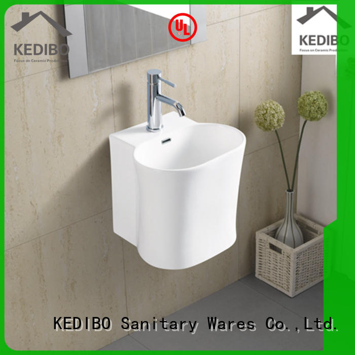 KEDIBO useful ceramic wall hung basin grab now for commercial apartment