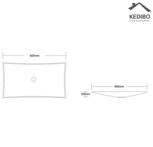 KEDIBO fashion large bathroom sinks for shopping mall-1