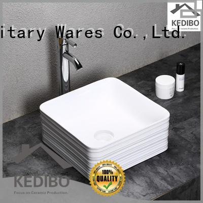 KEDIBO different types oval ceramic basin OEM ODM for toilet