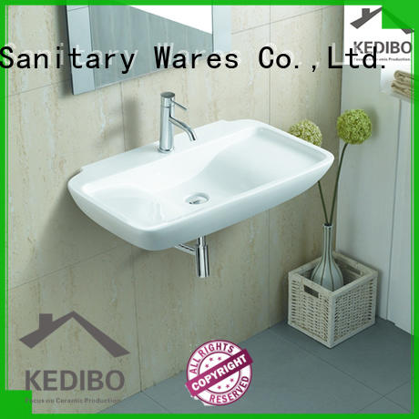 KEDIBO classical design wall hung basin factory price for bathroom