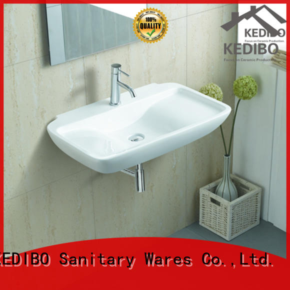 sale wall mount bathroom sink wholesale for commercial hotel KEDIBO