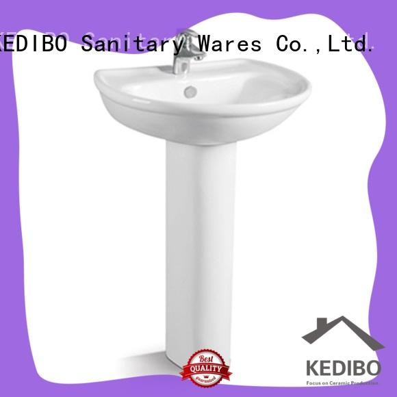 KEDIBO easy-to-install pedestal wash basin manufacturer for airport