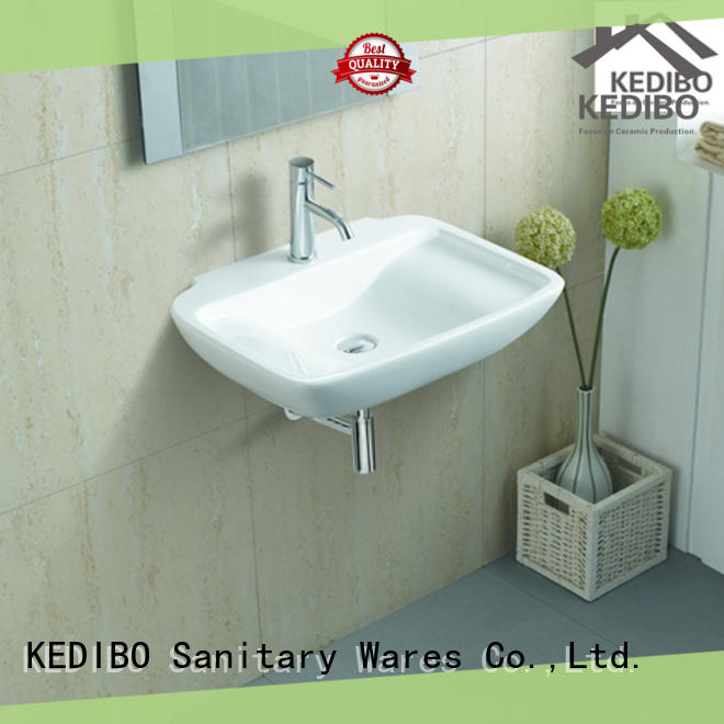 high-quality ceramic wall hung basin bulk production for washroom