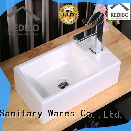 KEDIBO porcelain wall mounted basin grab now for commercial apartment