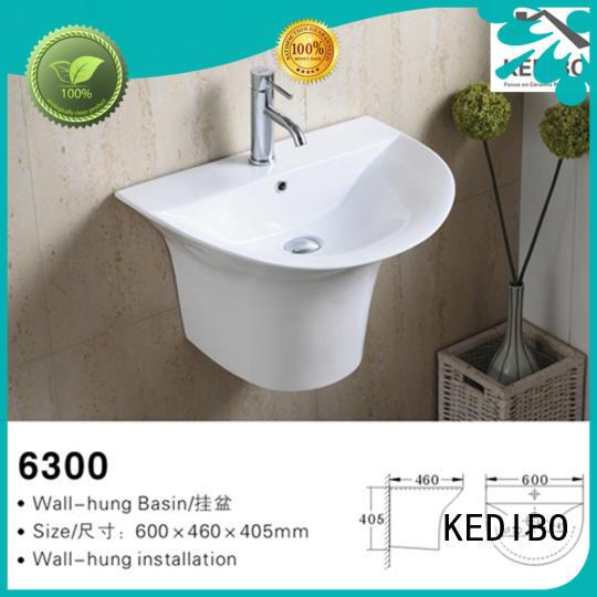 KEDIBO Brand simple oval glossy different wall hung basin