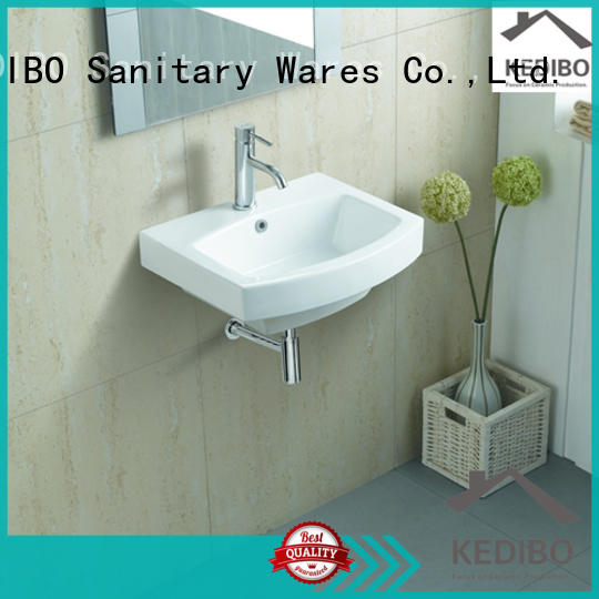 KEDIBO useful ceramic wall hung basin shop for commercial hotel