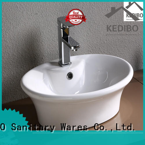 KEDIBO various design counter wash basin size exporter for hotel